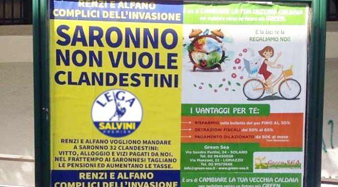 """Toga condanna Salvini per questo manifesto: """"Non si può scrivere clandestini"""""""