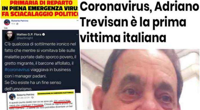 Medico condivide post razzista anti-italiano sul coronavirus