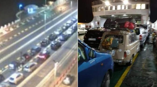 Conte colpisce ancora, centinaia di auto si imbarcano per Sicilia