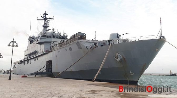 Epidemia di Coronavirus a bordo 2 navi militari italiane: quarantena a Brindisi