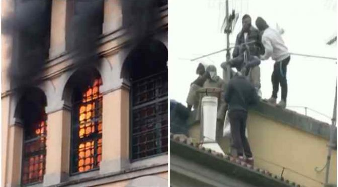 Milano, immigrati in rivolta: carcere San Vittore in fiamme – VIDEO