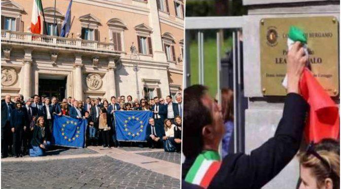 """PD contro chi ammaina la bandiera UE: """"Offesa gravissima"""" – VIDEO"""
