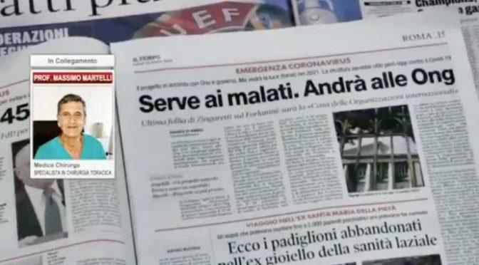 La prova, in piena emergenza coronavirus Zingaretti regala ospedale a ONG – VIDEO