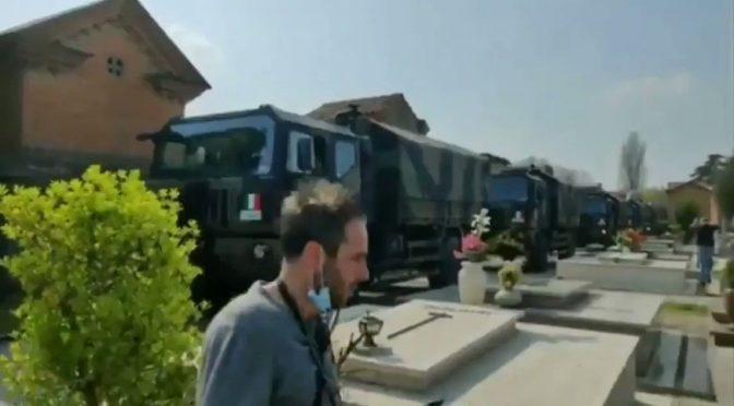 Ferrara accoglie i morti di Bergamo con l'Inno di Mameli – VIDEO