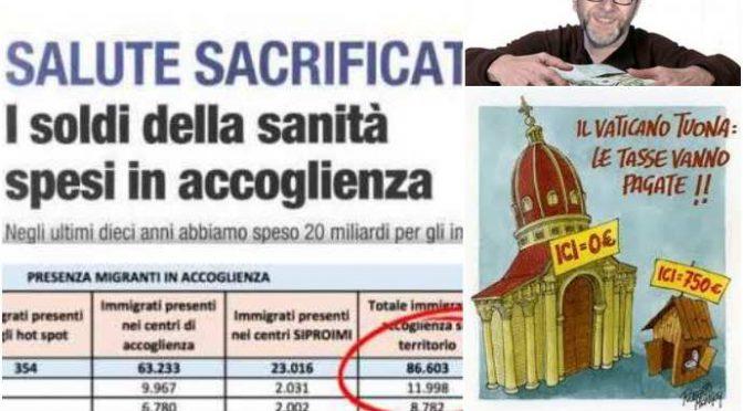 Perché Bergoglio tifa per gli sbarchi: 1 miliardo di euro per ospitare 20mila clandestini l'anno