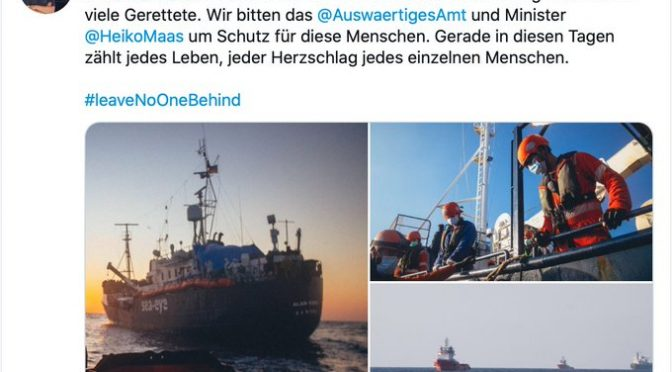 GERMANIA ESIGE SBARCO ONG TEDESCA A LAMPEDUSA