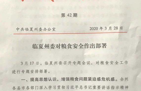 """Prefettura cinese ordina a famiglie di fare """"scorte di cibo per 6 mesi"""""""