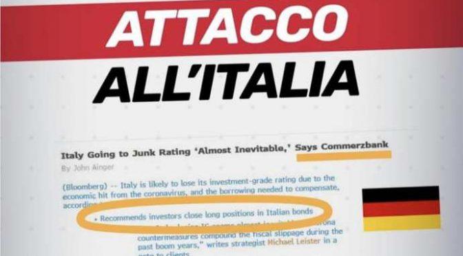 Coltellata alla schiena: Germania invita a vendere titoli di Stato italiani