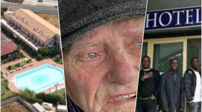 """Poliziotti trovano anziano che piange su panchina: """"Non mangio da 3 giorni"""""""