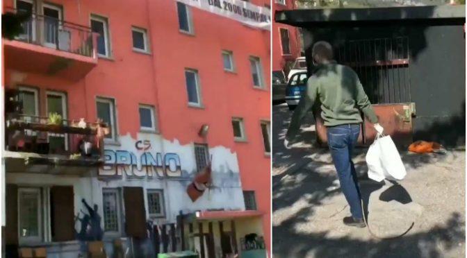 Alpini costretti a portare la spesa agli abusivi dei centri sociali – VIDEO