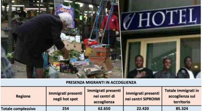 Coronavirus, disoccupato muore di fame in casa mentre 85mila immigrati gozzovigliano in hotel