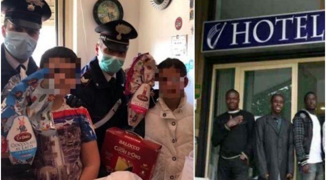 Bambini non mangiano da giorni, salvati da Carabinieri: governo apre resort per immigrati