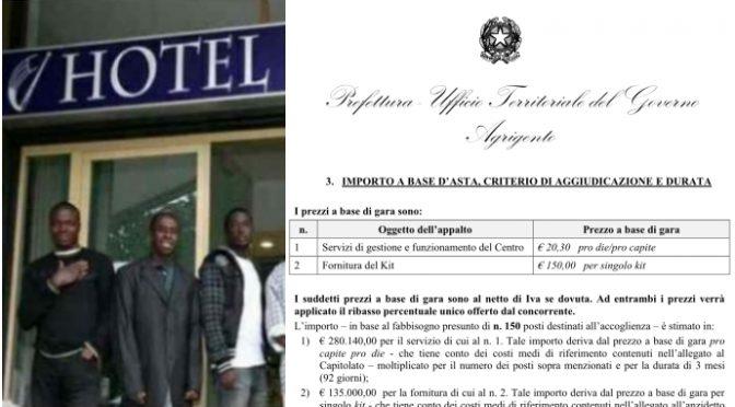 Governo cerca hotel per altri 150 immigrati: anche un'altra nave, prevista paghetta ai clandestini