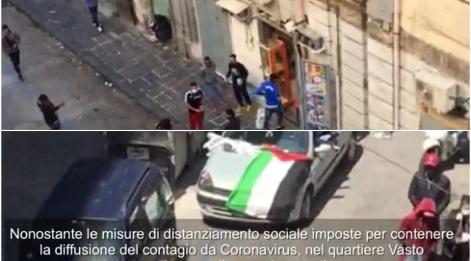 Nessuna quarantena per immigrati: partite ci calcetto in piazza – VIDEO