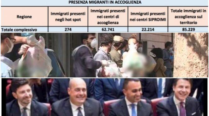 Italiani in fila per un pasto mentre manteniamo 85mila immigrati in hotel – VIDEO
