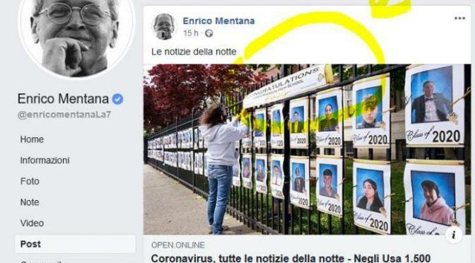 Il giornale di Mentana spaccia i diplomati per morti da coronavirus