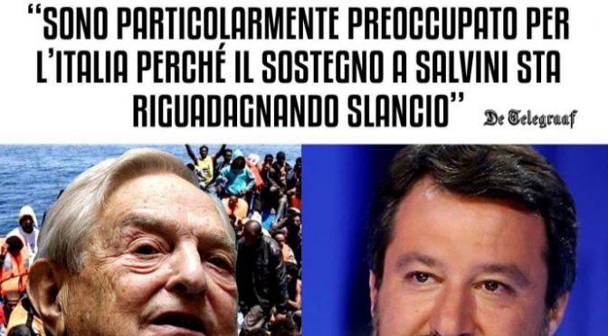 """Soros preoccupato: """"Salvini ha troppo sostegno in Italia"""""""