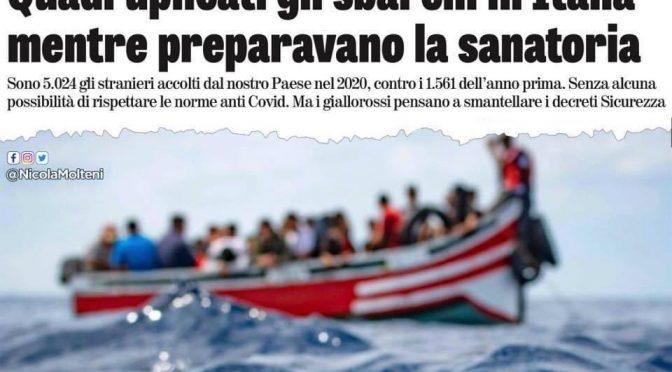 """Boom sbarchi, Salvini: """"Battaglia contro Sanatoria"""", è assalto di tunisini"""