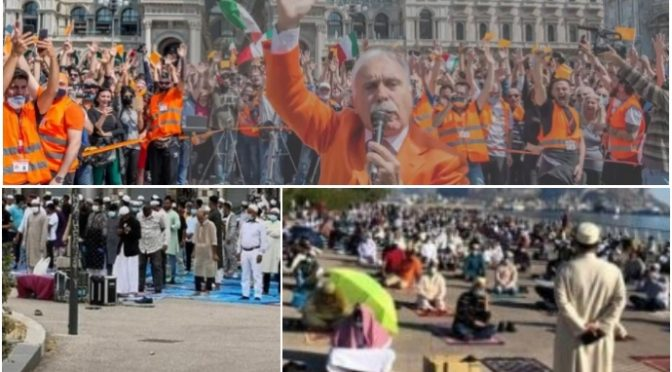 Denunciano i gilet arancioni: non clandestini, islamici e centri sociali – VIDEO