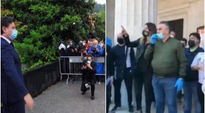 Poliziotti rifiutano di sgomberare manifestanti anti-Conte – VIDEO