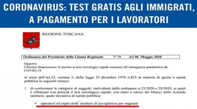 Test gratis ai migranti ma a pagamento per gli italiani