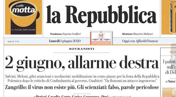 Repubblica aggredisce la verità, ancora