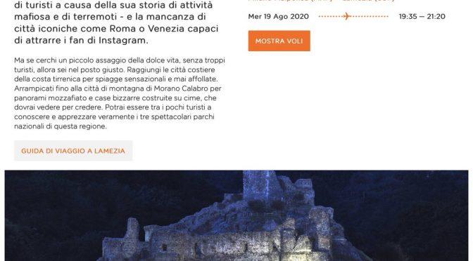 """EasyJet: """"Calabria terra di mafiosi"""", polemica"""