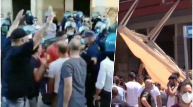 """Rivolta Mondragone, cittadini circondano Comune: """"Via rom o ci pensiamo noi: li dovete manganellare"""" – VIDEO"""
