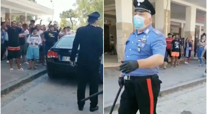 Mondragone fuori controllo: 50 immigrati fuggiti da zona rossa, carabinieri impotenti