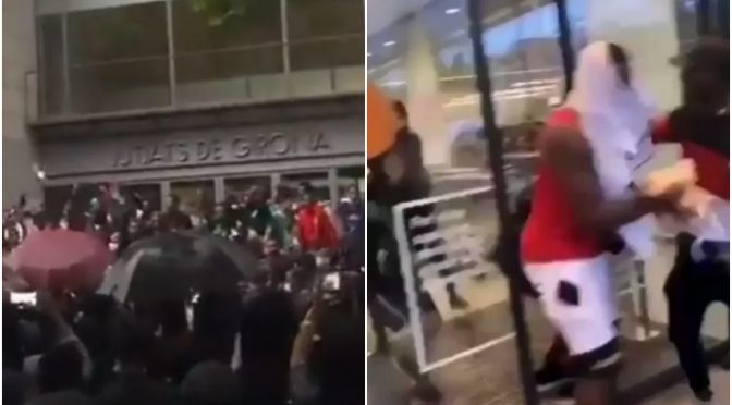 Immigrati africani saccheggiano negozi in Spagna in 'memoria' di Floyd – VIDEO