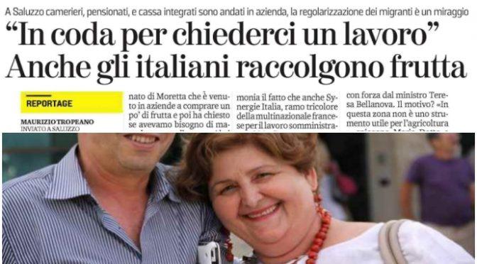 Italiani in coda per raccogliere frutta: Bellanova vergogna