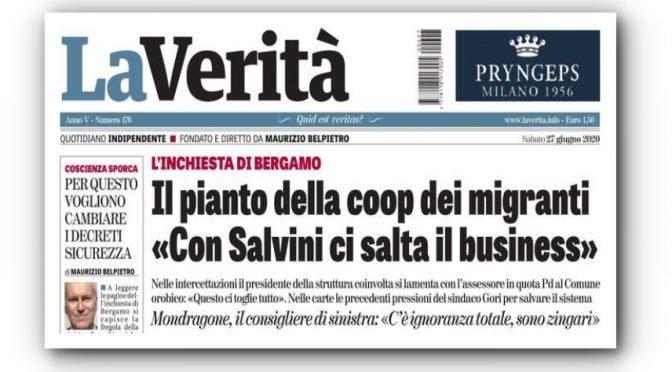 """Scandalo Caritas, Coop intercettata: """"Salvini ci toglie il business migranti"""""""