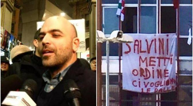 "Mondragone invoca Salvini, Saviano impazzisce: ""Vomita bile sui migranti"""