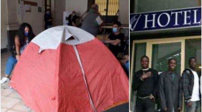Sicilia, famiglie italiane sfrattate vivono in tenda mentre aprono hotel per accogliere i clandestini