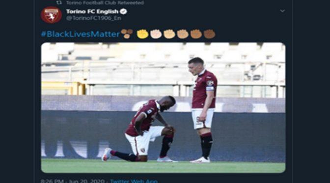 Il Torino si schiera coi teppisti di Black Lives Matter ma sbaglia foto