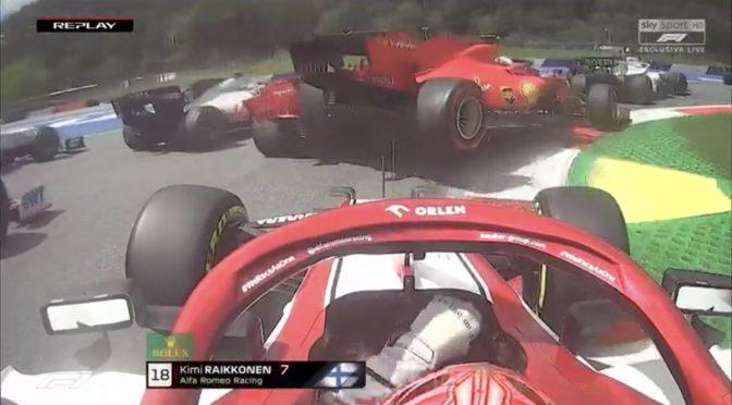 Suicidio Ferrari: Leclerc si schianta su Vettel, tutti fuori al primo giro