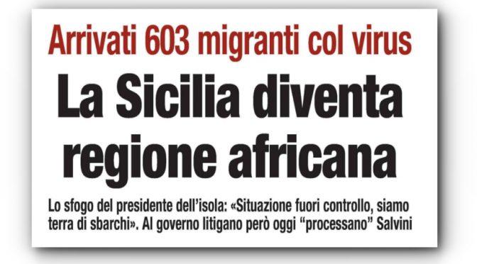 Impennata di contagi in Sicilia: 70 per cento sono arrivati coi barconi