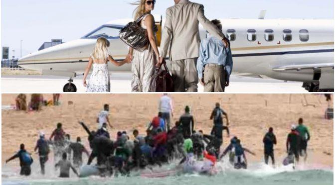 Respinto aereo carico di turisti americani, accolto barcone carico di clandestini