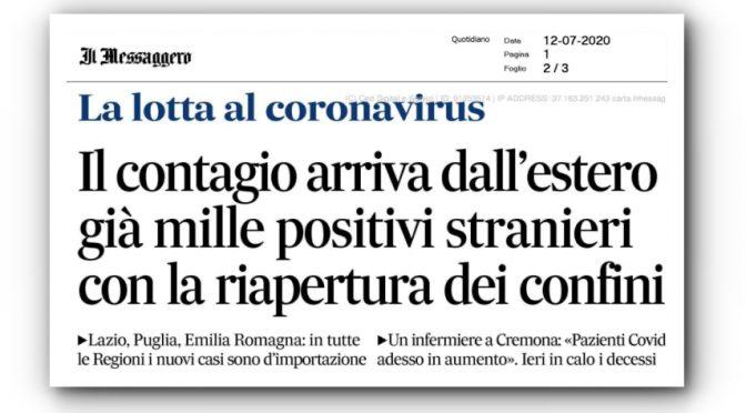 Coronavirus: contagio rallenta, ormai viene solo dall'estero