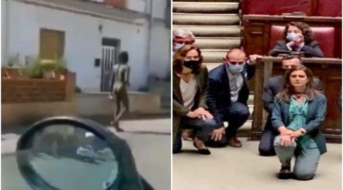 Sbarcano in Sicilia e girano nudi per la città – VIDEO