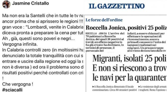 """Sardine: """"Calabria accolga migranti e non turisti"""""""