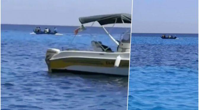 Barconi clandestini arrivano direttamente a Lampedusa in mezzo a barche turisti: allarme contagio – VIDEO