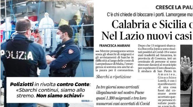 POLIZIOTTI IN RIVOLTA: MEZZO COMMISSARIATO IN QUARANTENA DOPO SBARCO INFETTI