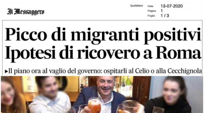 Piano delirio di Conte: clandestini positivi trasferiti dal Sud a Roma