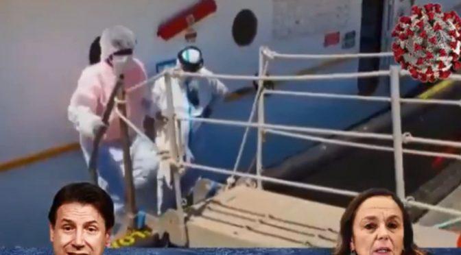 """Il piano di Conte, riportare il coronavirus in Italia con le Ong per mantenere la poltrona: """"BENVENUTI"""" – VIDEO"""