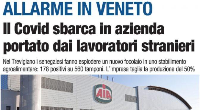 Coronavirus, boom di casi in Veneto: focolaio in stabilimento multietnico Aia