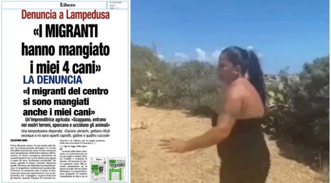 """LAMPEDUSA: """"I MIGRANTI HANNO UCCISO I MIEI 4 CANI"""", TESTIMONIANZA DRAMMATICA – VIDEO"""