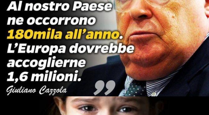 """Un'altra superCazzola di sinistra: """"All'Italia servono 180mila immigrati l'anno"""""""