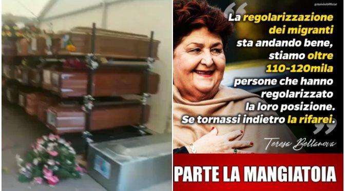 Governo lascia sbarcare 350 clandestini a Palermo e lascia marcire centinaia di cadaveri italiani – VIDEO