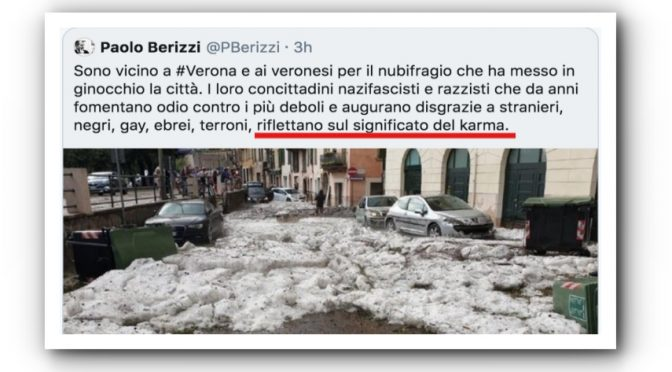A Berizzi che offende Verona paghiamo anche la scorta
